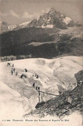 Glacier des Bossons et Aiguille du Midi