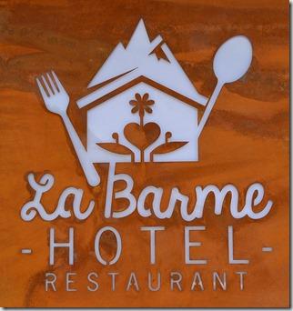 Panneau Hôtel La Barme
