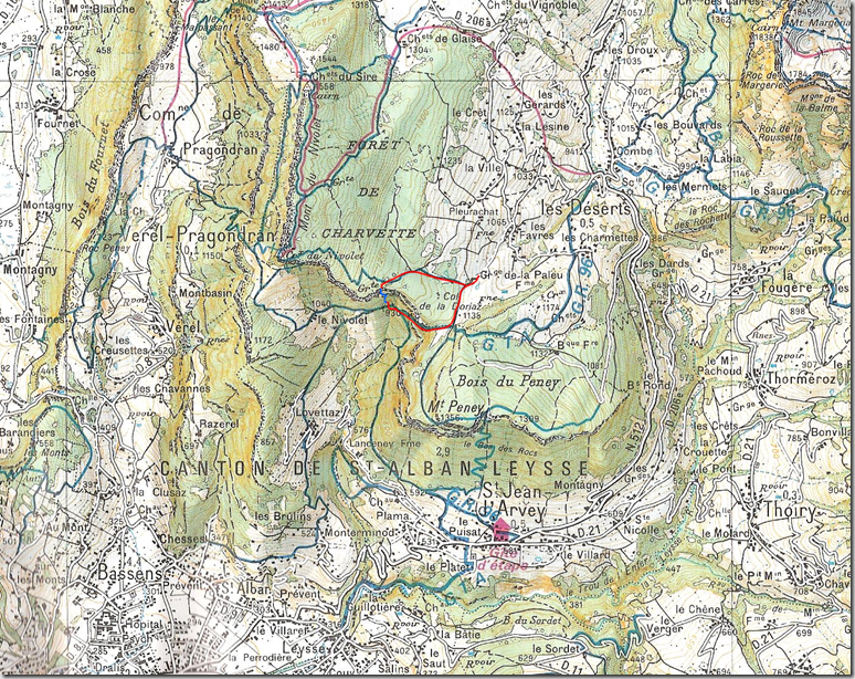Carte Grotte à Carret