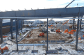 Backfilling and steel erection
