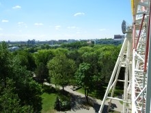 Open air wheel in Gorky Park