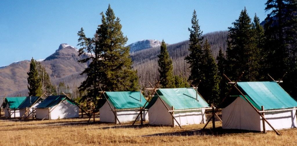 Wilderness elk camp