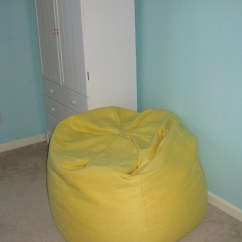 How To Make A Bean Bag Chair Out Of Old Clothes Ruffle Sash The Making Bedroom Part 3 Giant Yellow