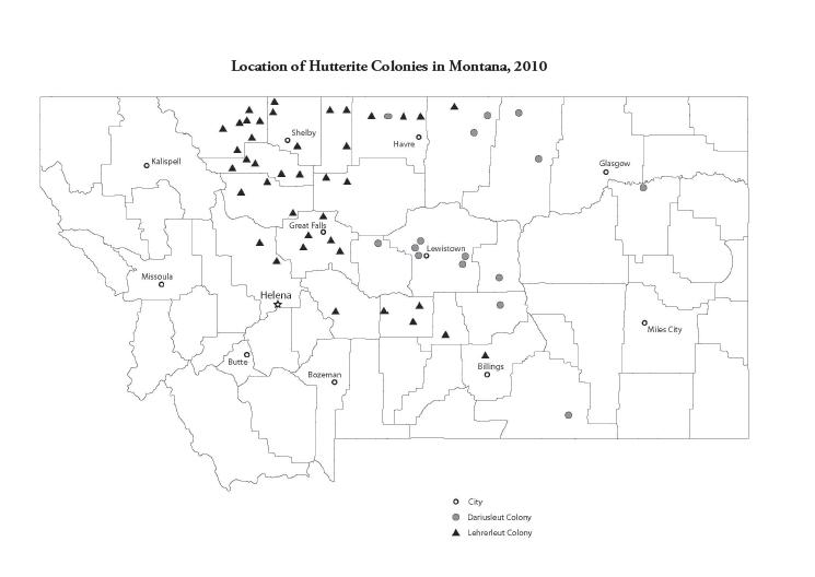 Location-of-Hutterite-Communities