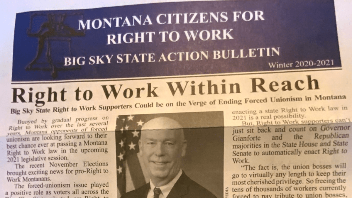 Montana right to work mailer