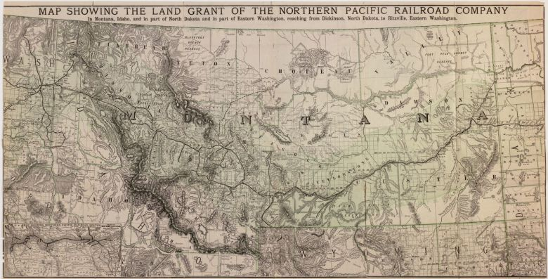 Northern Pacific Railroad land grant map Montana