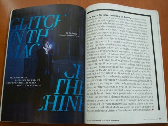 photo of article layout in magazine