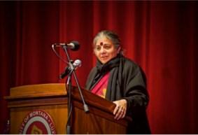 Vandana Shiva speaks at the Dennison Theater