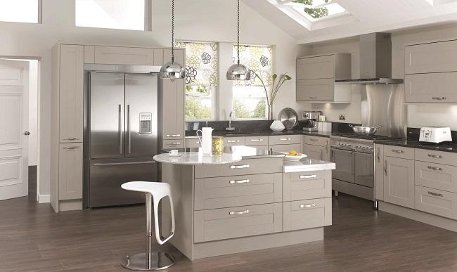 british kitchens, mereway canterbury olive and pebble