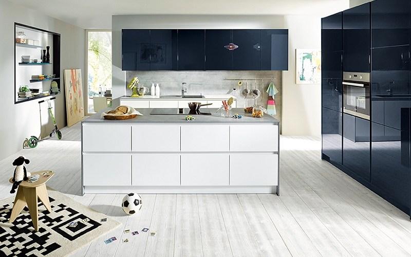 handleless kitchen, schuller kitchens, glasline matt fino