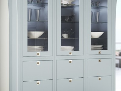 kosher kitchens mereway modern classic glazed larder unit