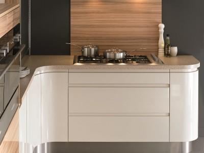 luxury fitted kitchens, mereway kitchens, segreto curved