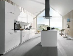 white gloss kitchen, schuller kitchens, gala style