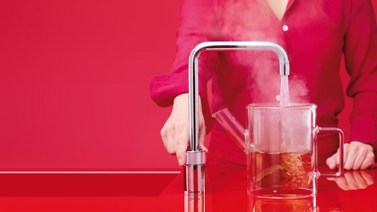 instant boiling water tap, making tea