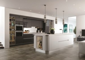 luxury fitted kitchens north london, mereway curved kitchen