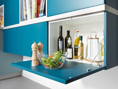 schuller kitchens, blue cabinets
