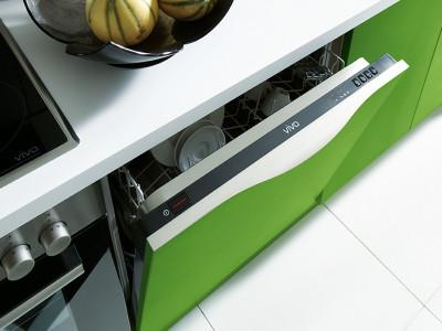 schuller kitchens, green drawer