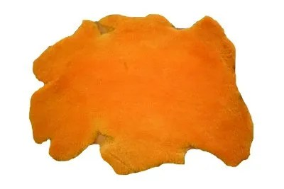 orange woolskin, bark tanned woolskin, veg tan woolskin, veg tanned woolskin