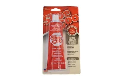 shoe goo, shoe adhesive, shoe protection, shoe glue, footwear glue, shoe cement