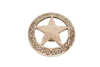 Antique Silver Star Concho
