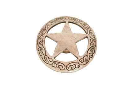 Antique Silver Star Concho
