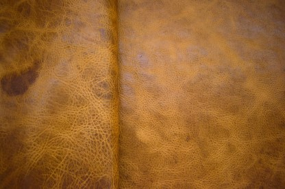 golden brown leather, bison leather, upholstery leather