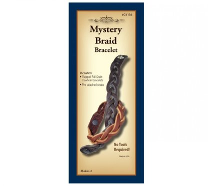 braiding, leather bracelet, realeather, silver creek, leather kit
