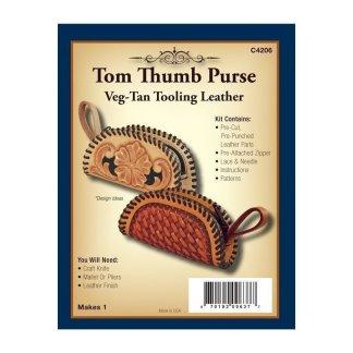 leather kit, realeather, silver creek, purse kit, leather purse, tom thumb