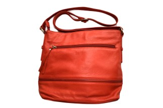 leather bag, red bag, osgood marley