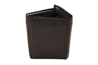 black wallet, leather wallet, trifold wallet