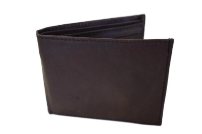 aj leather, bifold wallet, leather wallet, brown wallet