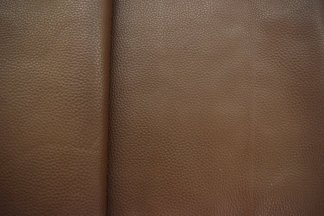 Umber Brown Pebble Leather Close