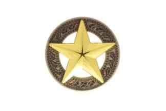 Star concho, gold concho