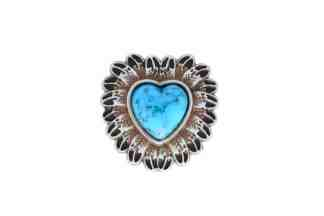 Heart concho, Turquoise concho