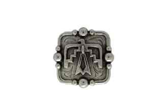 Silver concho, Thunderbird Concho, nickel concho