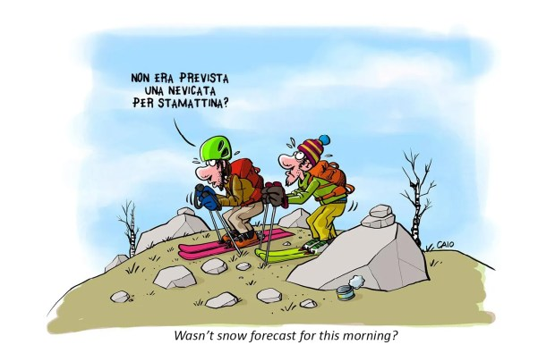 climbing, ski mountaineering, cartoons-caio - scialpinismo