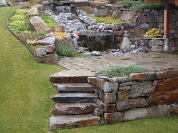 mcgregor lake steps - montana rockworks