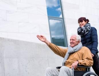 Senior in wheelchair