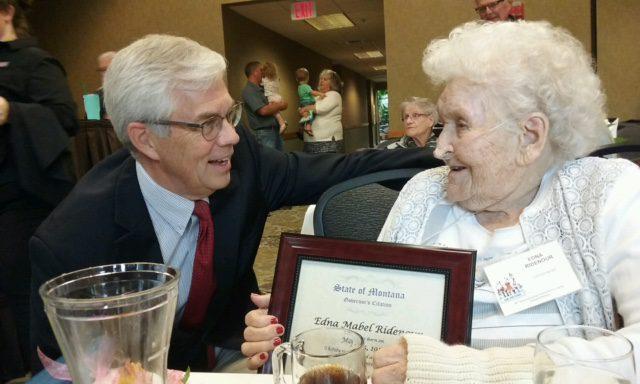 Centenarian Edna Ridenor