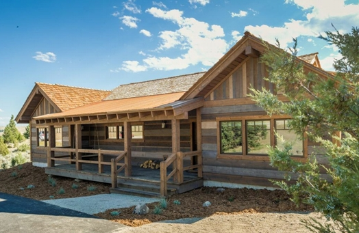 Rustic Mixed Colors Ranchwood™ Prefinished Wood Siding And