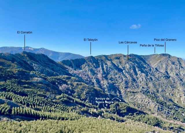 Cresta del Dragón vista desde el Pico Atalaya.