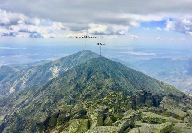 Vista S. Abajo, la Cuera del Amealito y al fondo, Cabezo del Cervunal.