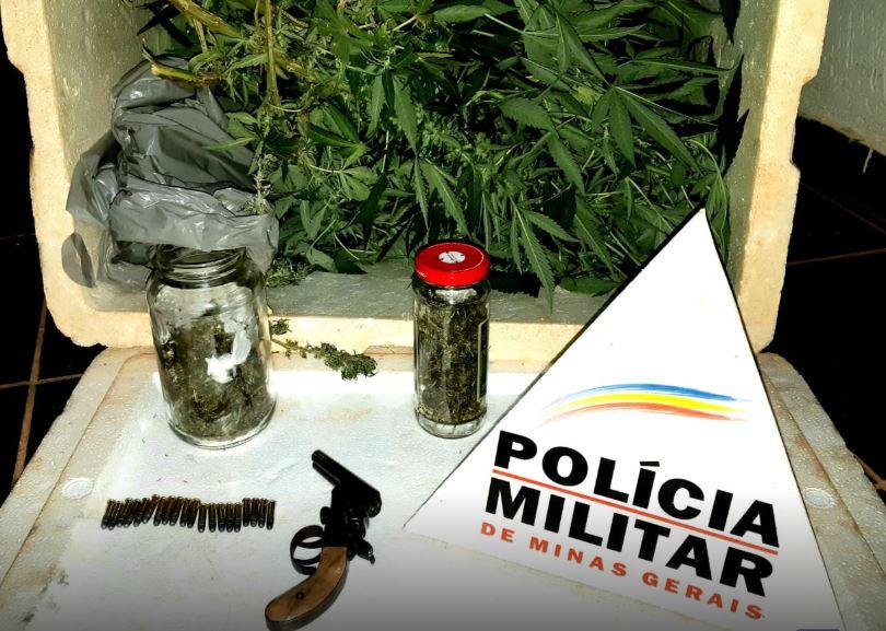 Polícia Militar apreende arma, drogas e encaminha três pessoas à Delegacia em Lagoa Grande