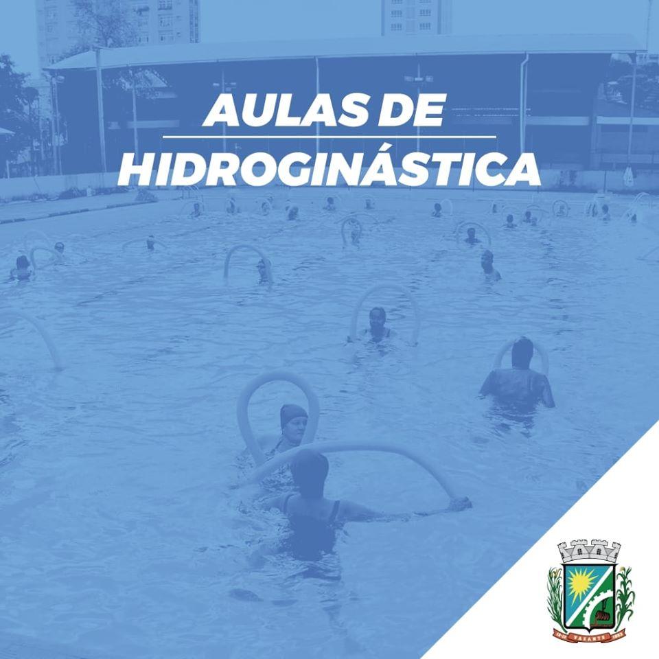 Inscrições para aulas de hidroginática para pessoas acima de 50 anos estão abertas em Vazante