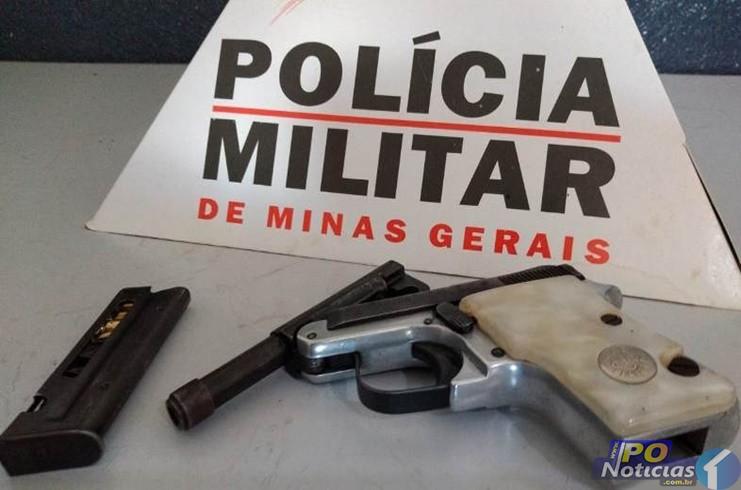 Polícia Militar apreende arma e prende jovem de 23 anos em Lagamar