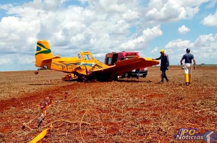 Piloto morre em mais uma queda de avião agrícola na região do Alto Paranaíba