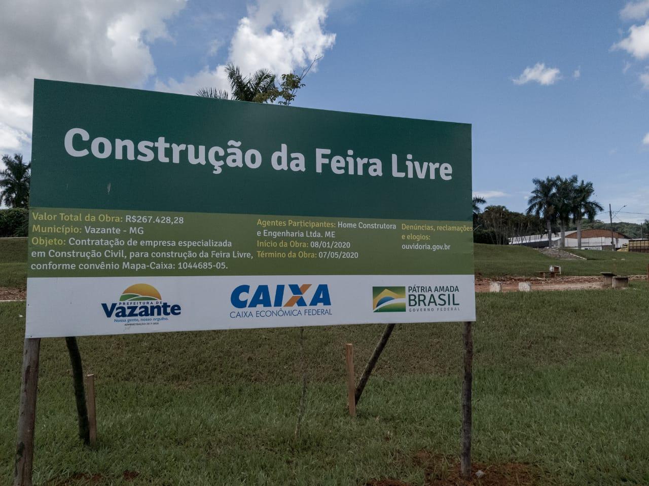 Iniciada a Construção da Feira Livre Municipal