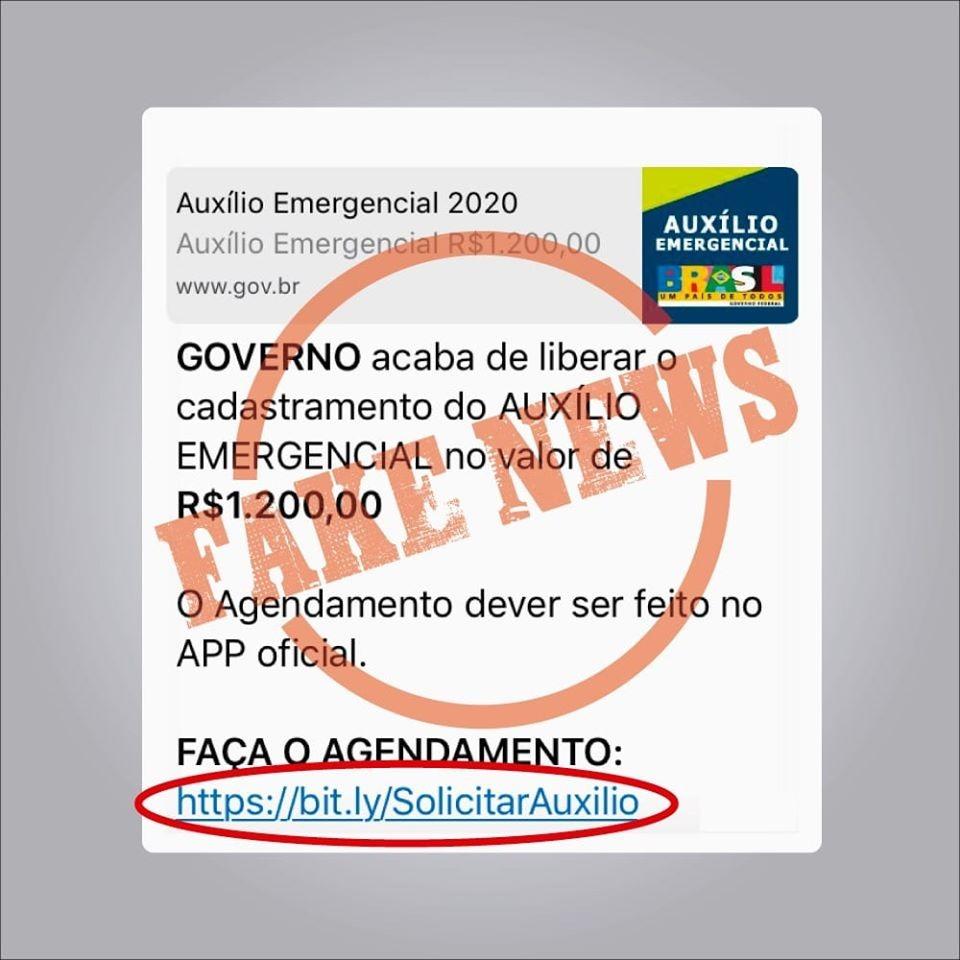 Cuidado! Bandidos usam auxílio salarial de 600 reais do governo como isca pra aplicar golpe por Whats-App