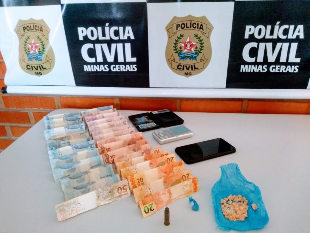 Polícia Civil apreende menor por tráfico de drogas em Vazante
