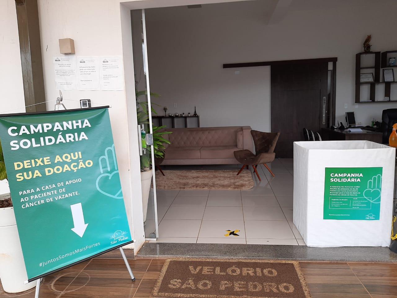 Funerário São Pedro realiza campanha solidária em prol da Casa de Apoio